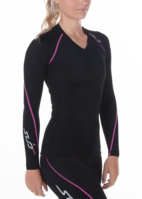 eca2ca82e86 Sub Sports Womens Graduated Compression Long Sleeve V-Neck Top ...