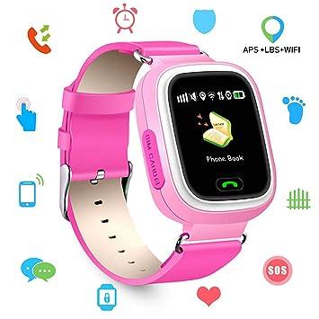 Montre connectée pour iOS/Android, Enfant Smarwatch GSM Gprs GPS LBS WiFi Locator Géolocalisation