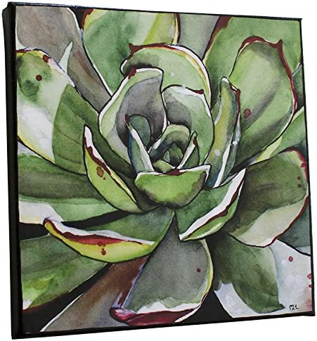 Watercolor Green Cactus Painting