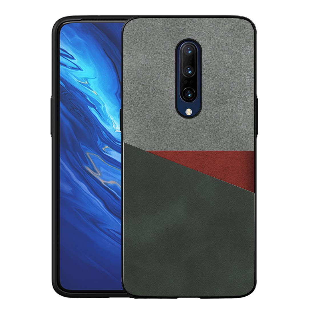 Stuffcool Back Cover Case for OnePlus 7 Pro/One Plus 7 Pro Uni PU Leather Slim Back Cover (Black)