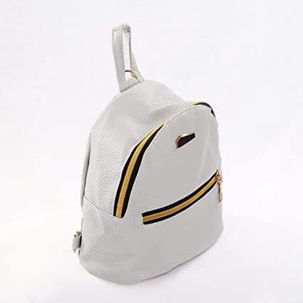 Amazon.com   Wintefei Useful Schoolbag Fashion Faux Leather Mini Backpack  Girls Travel Handbag School Rucksack Bag - Grey   Office Products 714501b3fdde6