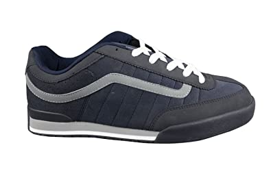 59be258fa4 Vans Mens Textile Navy Blue Grey White Rowley XL2 Skate Shoes Trainers