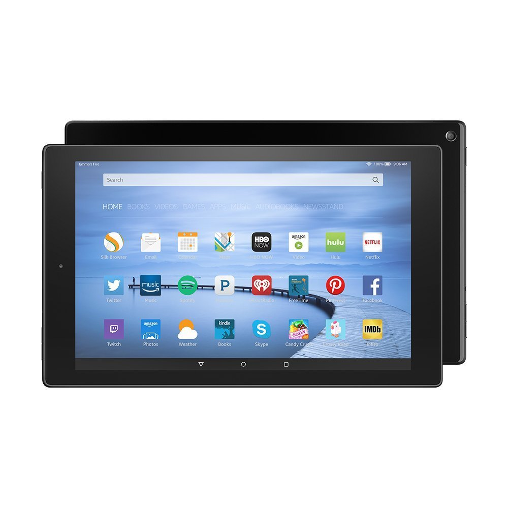 Certified Refurbished Fire HD 10 Tablet, 10.1'' HD Display, Wi-Fi, 16 GB - Includes Special Offers, Black (Previous Generation - 5th) by Amazon