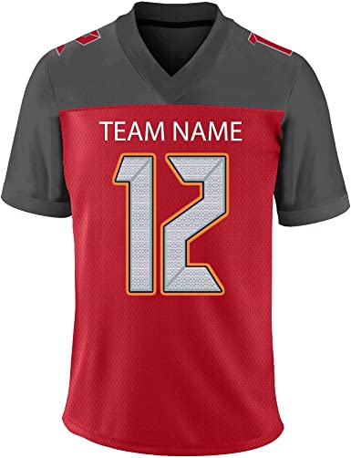 Amazon Com Fiitgcustom Customize Football Uniforms Stitched Or Printed Personalized Team Men Women Youth Jersey Clothing
