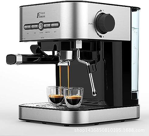 HHUG Máquina para Hacer café Todo en uno con café exprés y Capuchino Juego de Paquete Barista con Varilla de Vapor incorporada Gris Plateado: Amazon.es: Hogar