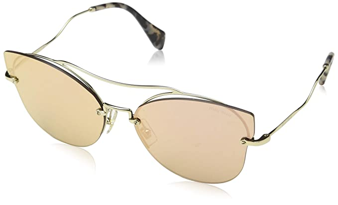 d00da6acf99 Image Unavailable. Image not available for. Color  Miu Miu Women MU 52SS 62  Gold Gold Sunglasses 62mm