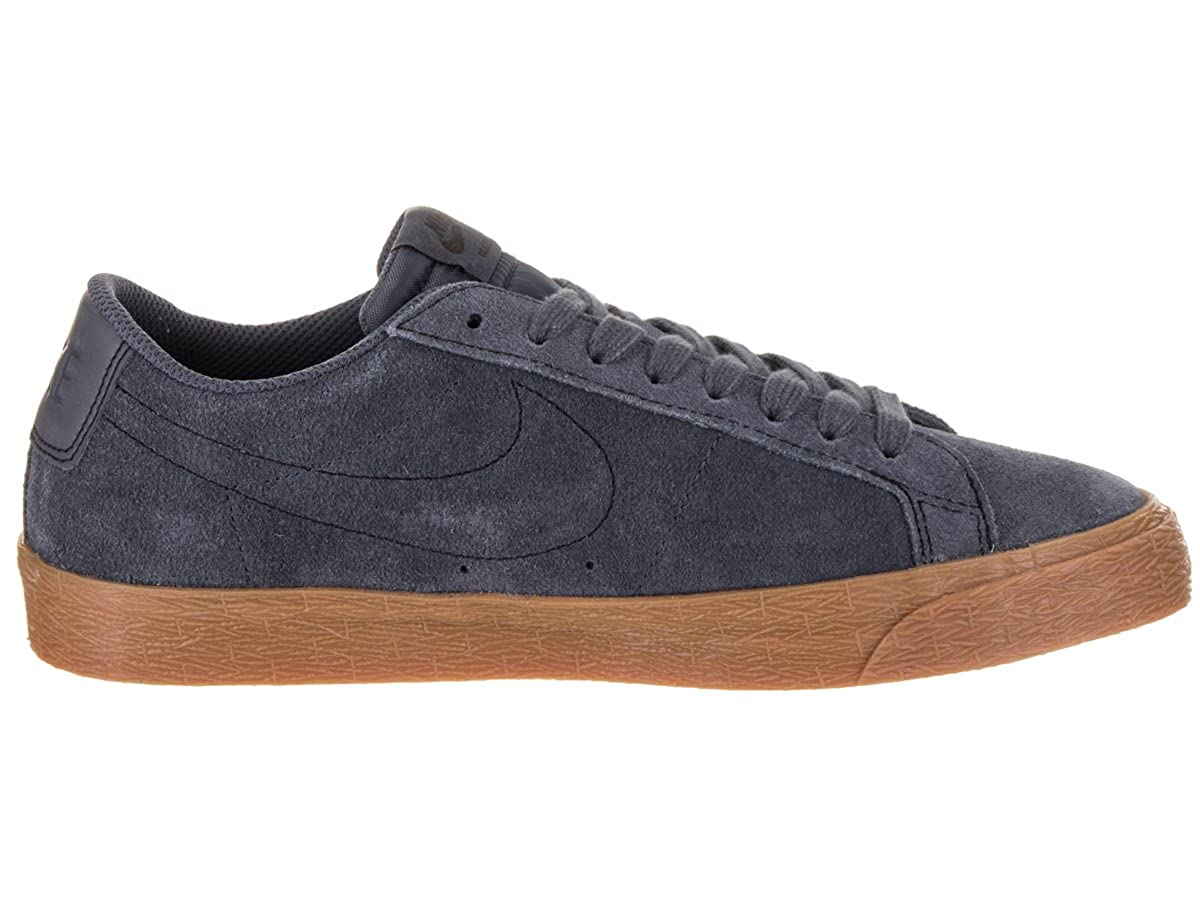 newest 4d644 f0beb Nike SB Zoom Blazer Low  Thunder Blue Thunder Blue Gum Med Brown Black.  9UK  Amazon.es  Zapatos y complementos