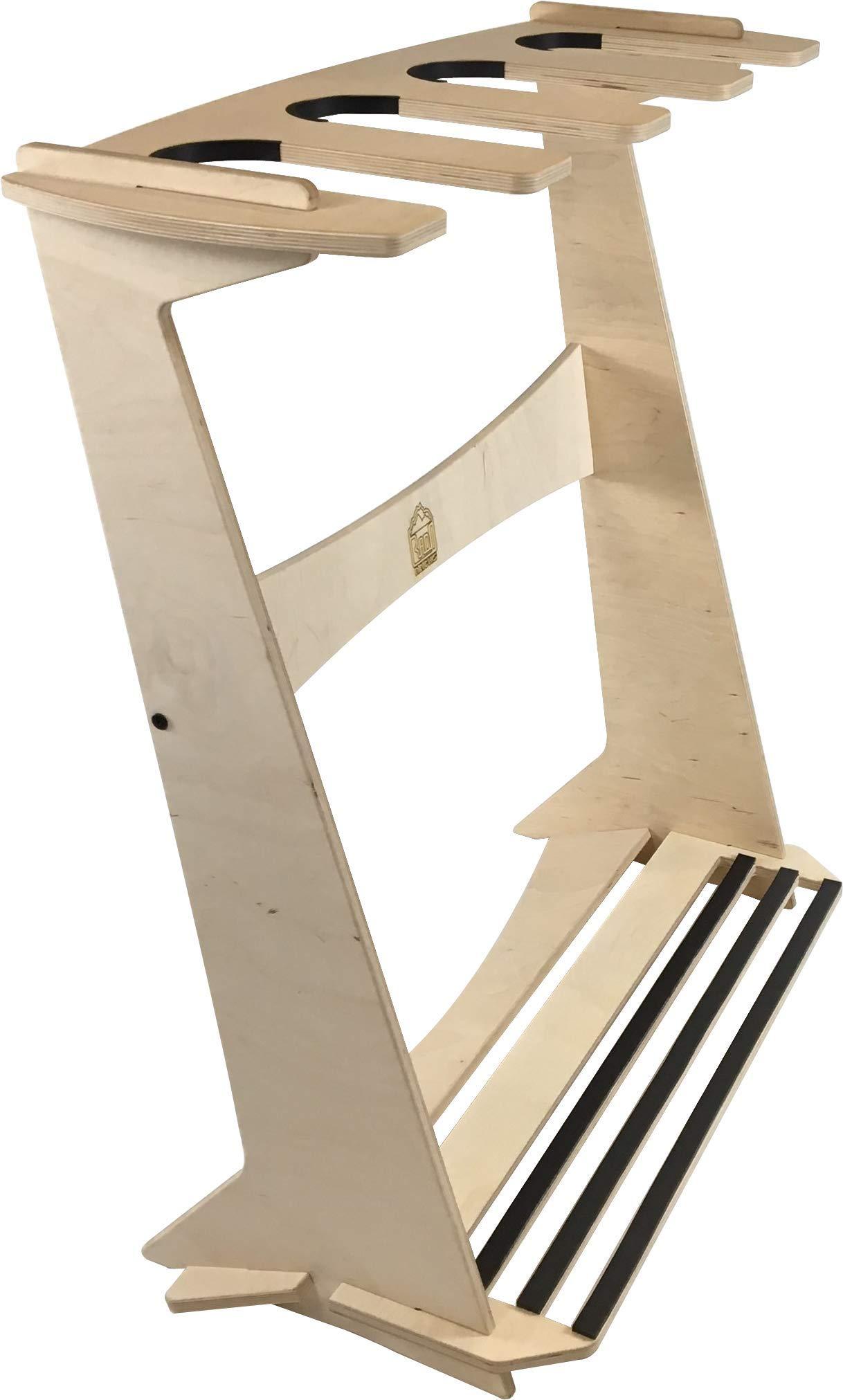 The Pacifica Freestanding Surfboard Display Rack (Holds 4 Boards) by Rado Racks