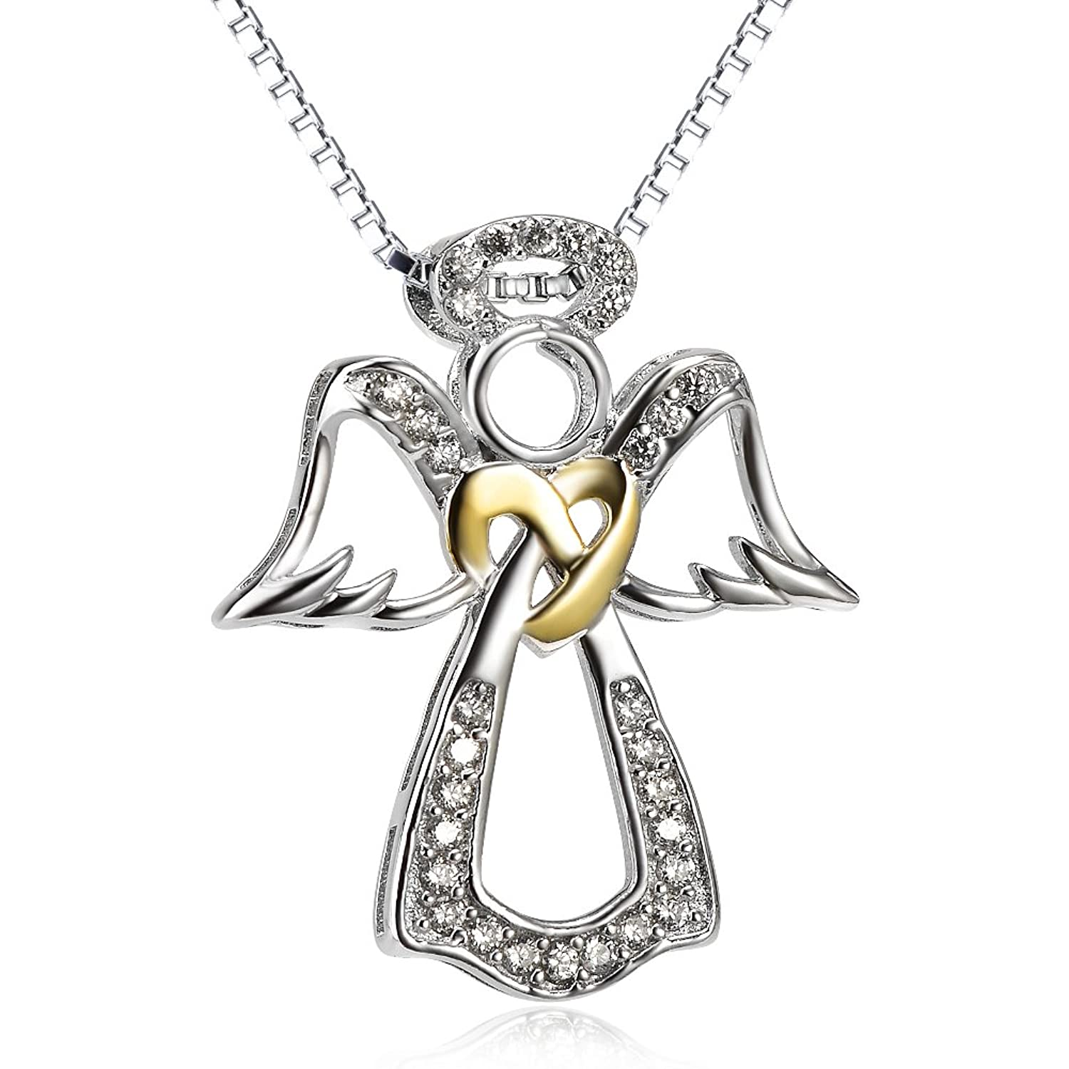 pendant gold necklace pin created with in double winged black diamonds and wings white