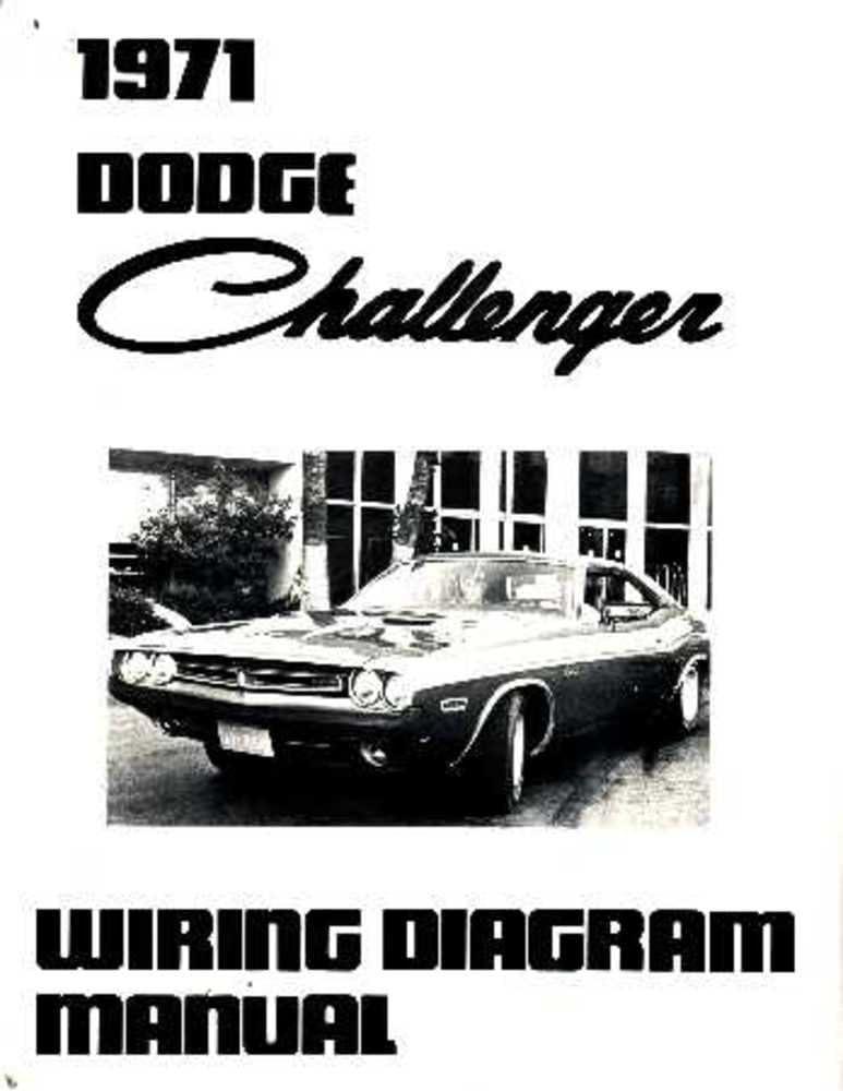 Amazon Com Bishko Automotive Literature 1971 Dodge Challenger Electrical Wiring Diagrams Schematics Factory Oem Book Automotive