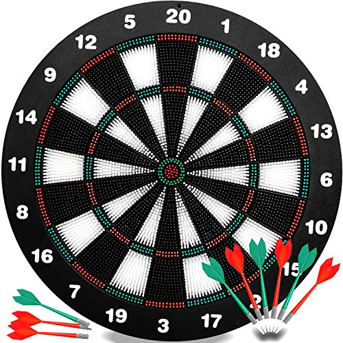 INNOCHEER Safety Darts and Kids Dart Board Set