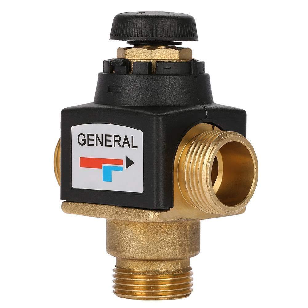 Válvula termostática de mezcla para calentador de agua solar 3 vías DN20 rosca macho latón