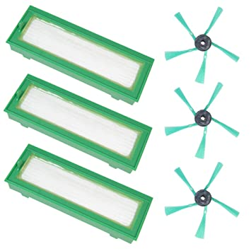 ... filtro HEPA filtro de polvo Allergie filtro micro filtro + 3 x cepillos Juego de cepillos laterales para Vorwerk Kobold VR200: Amazon.es: Hogar