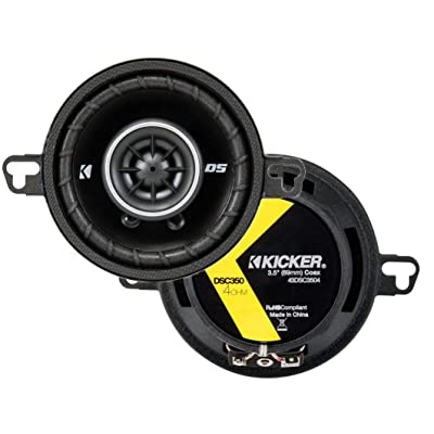 KICKER 43DSC3504 3-1/2-Inch 3.5-Inch 30W 2-Way Speakers DSC35 DS35 Coax (Pair) : Car Electronics