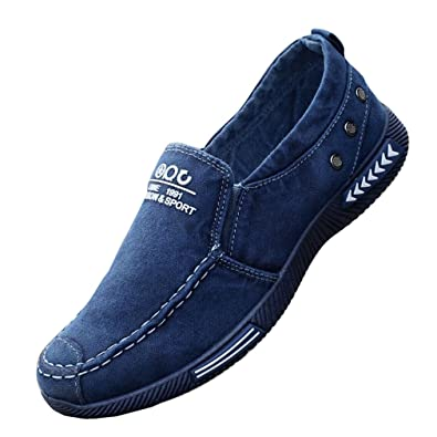 Juleya Herren Damen Loafer Canvas Sneaker Flache Schuhe Unisex  Freizeitschuhe Classic Slip-on Low- abfad8abf2