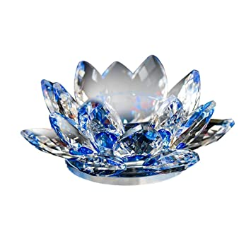 Amazon Coerni Crystal Glass Lotus Flower Candle Holders By D