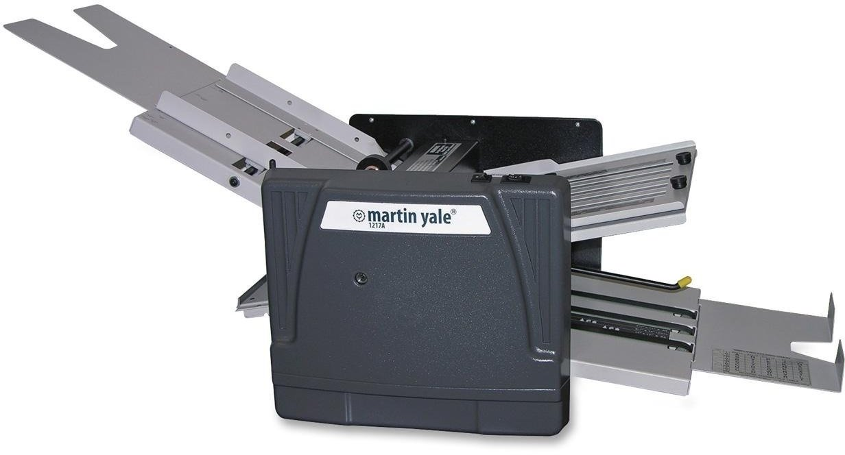 Martin Yale 1217A Automatic Paper Folder, Dark Gray, Folding Capacity of 10300 Sheets per Hour