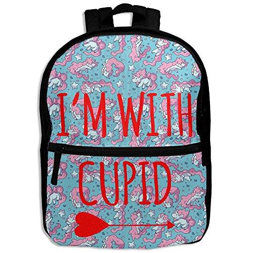 Eagle Wings Costume For Sale (I'm With Cupid Hot Sale Child Shoulder School Bag School Backpack Satchel For Teens Boys Girls Students Black)