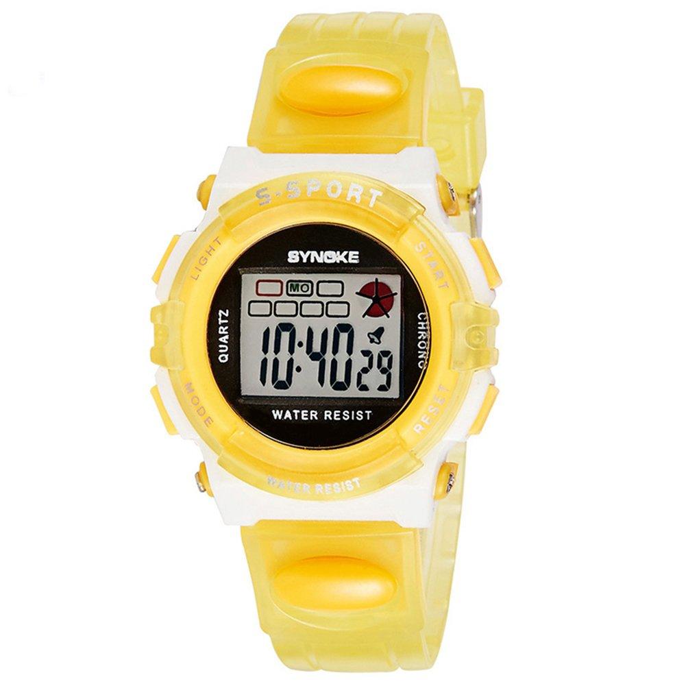 Halumi Digital Waterproof Sport Students Girls Wrist Watch Chronograph