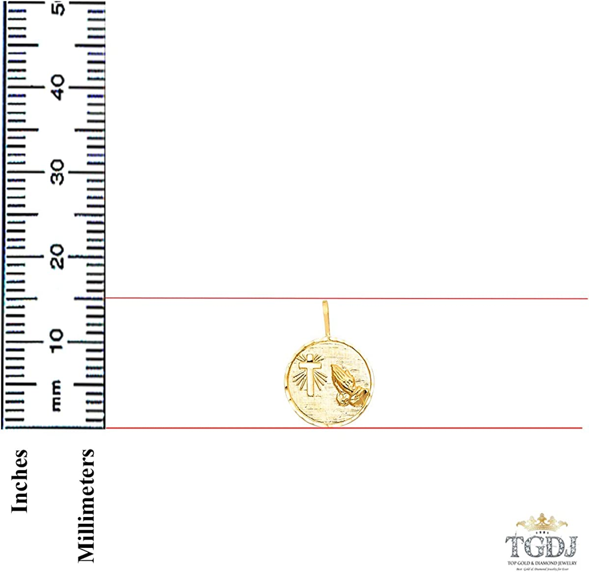 Top Gold /& Diamond Jewelry 14k Yellow Gold Religious Pendant More