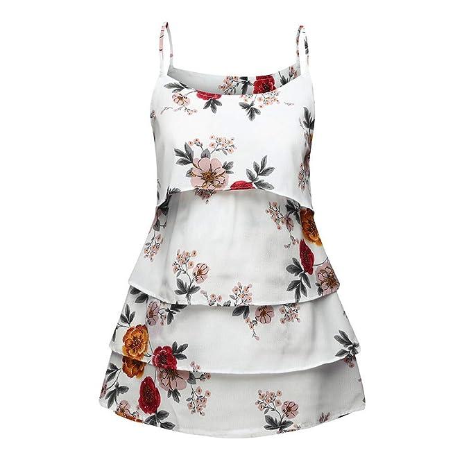 GUCIStyle Camiseta de Lactancia de Embarazadas para Ropa de Maternidad Moda Mujeres Madre Casual Verano Floral Camiseta de Sin Mangas
