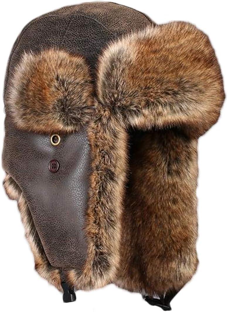 Insun Unisex Cappello da Aviatore Cappelli con Pelliccia Sintetica Berretto Antivento Invernale