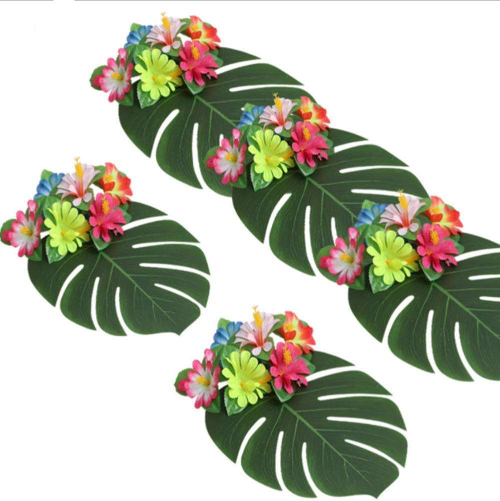 vainmoon 人工葉 トロピカルヤシの葉 人工葉 ハワイアンルアウテーマパーティー装飾 ホームガーデン装飾 12個 B07GX6L2D9