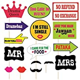 SYGA Party Props Marriage or Party Theme Paper Craft Item, Multi Colour (Set of 16)