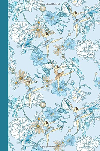 Journal: Flower Dancers (Blue) 6x9 - DOT JOURNAL - Journal with dotted pages (Flowers Dot Journal Series)