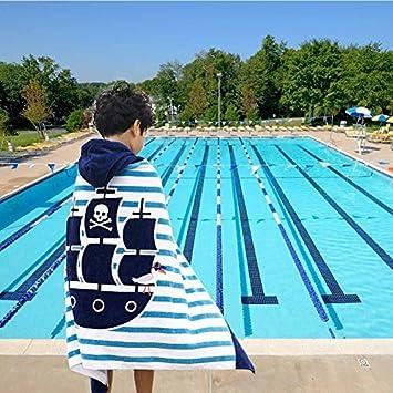 POPPAP Con capucha Toallas de playa para niños barco pirata toalla de baño playa piscina natación: Amazon.es: Hogar