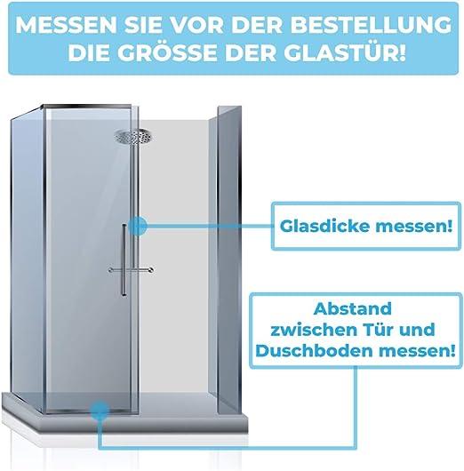 2x Junta de goma de repuesto para cabina de ducha 2x120 cm + CUCHILLO GRATIS | Anti pulverización | Junta para puerta de ducha de vidrio de 6/7/8 mm de espesor |