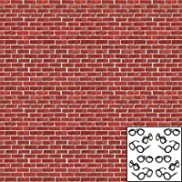 Brick Wall Backdrop (30 ft long x 4 ft high) - plus Bonus Wizard Glasses (12 count) for Photo Booth or Birthday Party