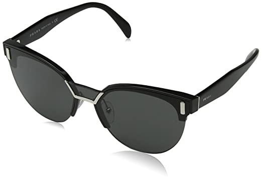 4424545bf Amazon.com: Prada Women's 0PR 04US Black/Grey One Size: Clothing