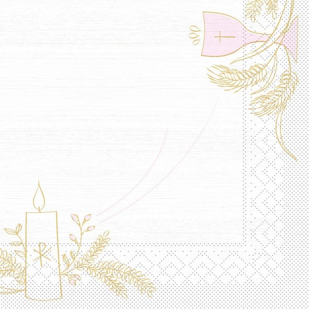 Kommunion//Konfirmation Holz in Rosa-Grau praktische Einmal-Serviette f/ür Gastronomie und Feiern 100 St/ück Mank Servietten aus Tissue 33 x 33 cm /¼ Falz Kaffee Serviette