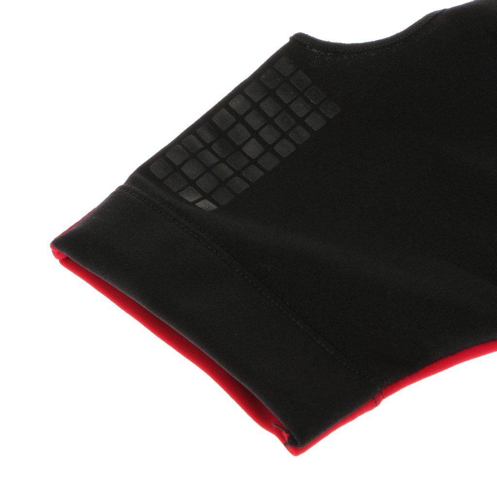 Rojo Lycra Tres Dedos Derecha Billar Taco De Billar De Piscina Guante