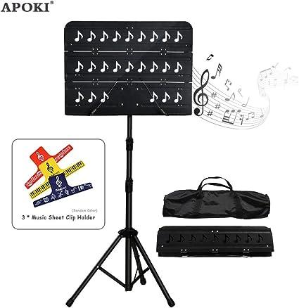 Soporte de música Fordable para notas musicales, violín, guitarra ...