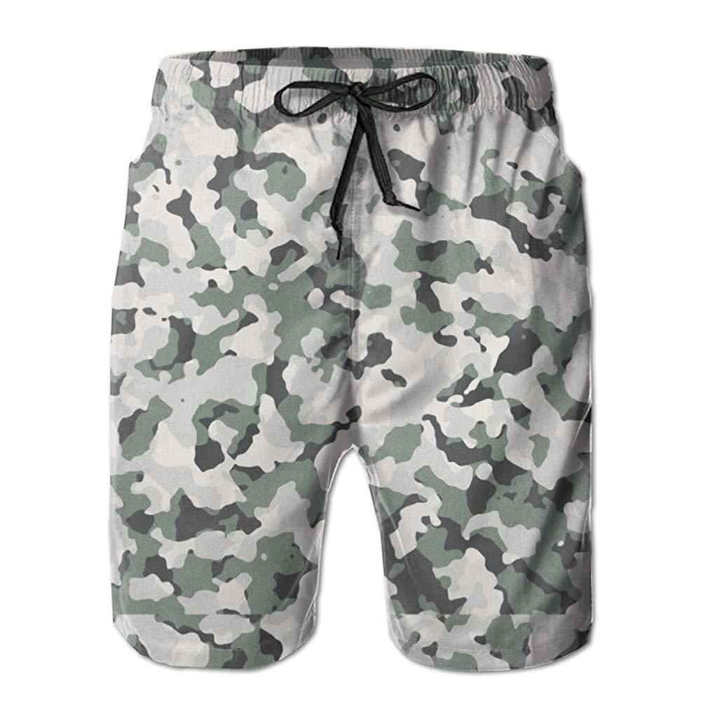 WSDCLA Aniaml Bape Camouflage Green Mens Summer Swim Beach Shorts Men 2019