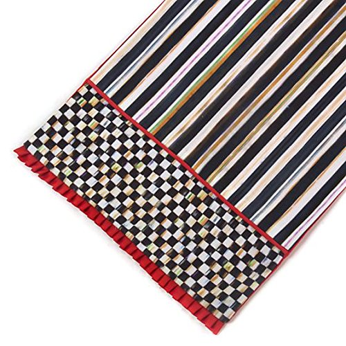 MacKenzie-Childs Brand New, 100% Authentic Courtly Check Table Runner Poppy 72'' X 14''