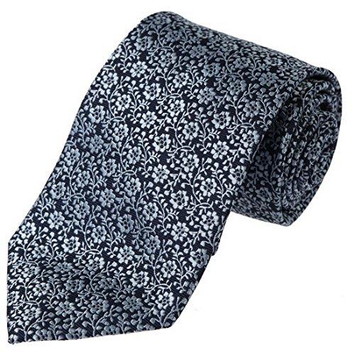 FashionOn FAA2064 Blue Patterns Italian Design Silk Mens Necktie Inspire For Groom
