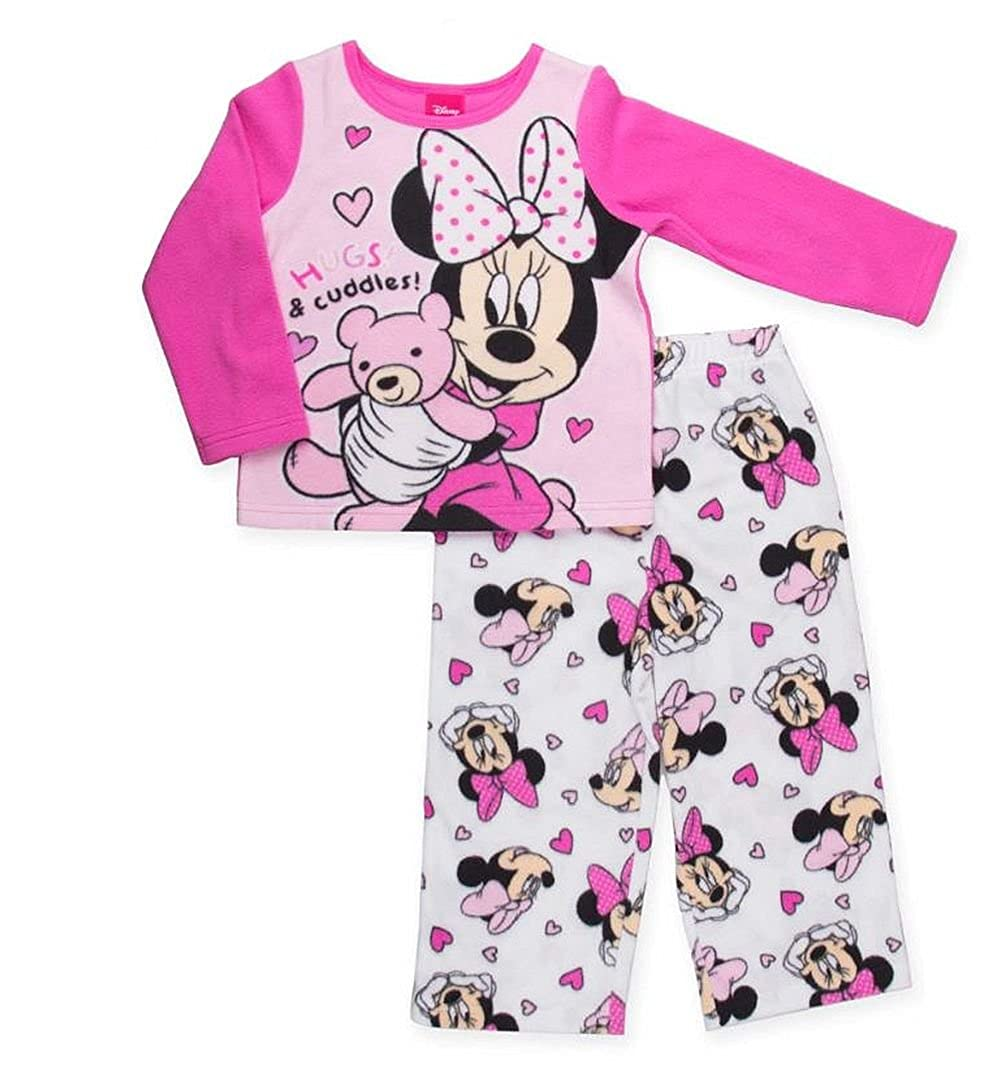 Disny Minnie Mouse Size 3T Hugs and Cuddles Fleece Pajama Set