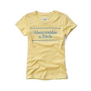 Abercrombie & Fitch–Camiseta Logo Graphic camiseta en amarillo–nueva colección