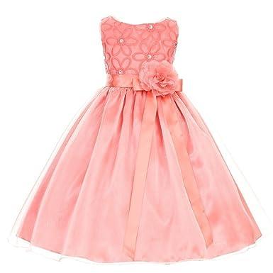 Kiki Kids Usa Vestido Para Niña Rosa Coral 6 Amazones
