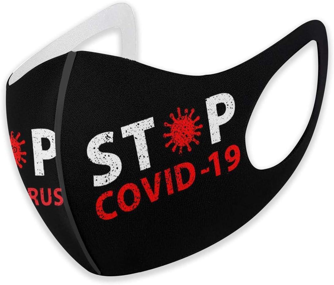 3d Fashion Face Mouth Protection Washable Reusable Bandanas Double Print Stop Coronavirus Covid-19