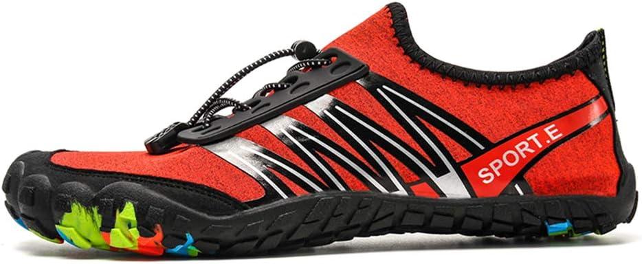 SKTWOE Zapatos de Cala, Zapatos de Piscina Antideslizantes para Parejas Transpirables con Zapatillas de Deporte de Cinco Dedos de Moda al Aire Libre para Correr a pie,Rojo,43EU: Amazon.es: Hogar