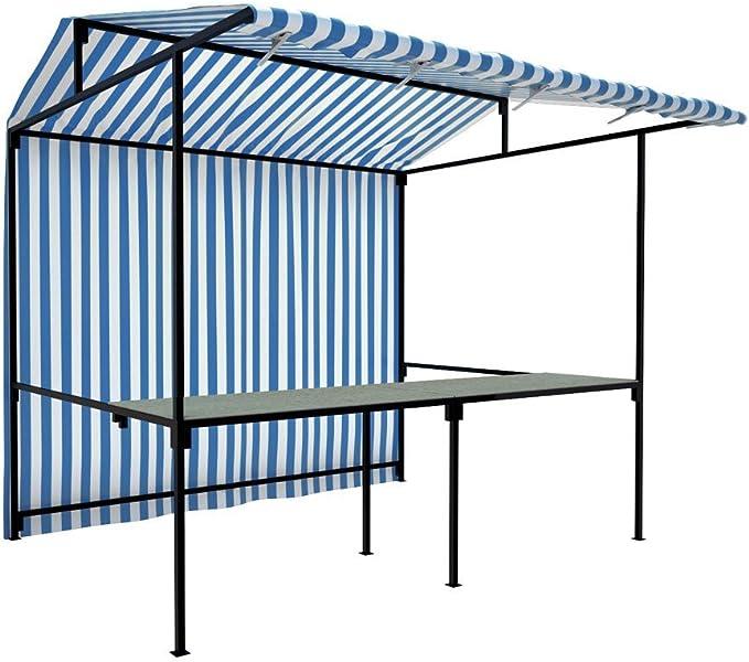 Alimentos mercado Stall – todos los colores y tamaños soporte Comercio de alimentos quiosco funda para Profesional con marco de acero resistente Kit completo: Amazon.es: Jardín