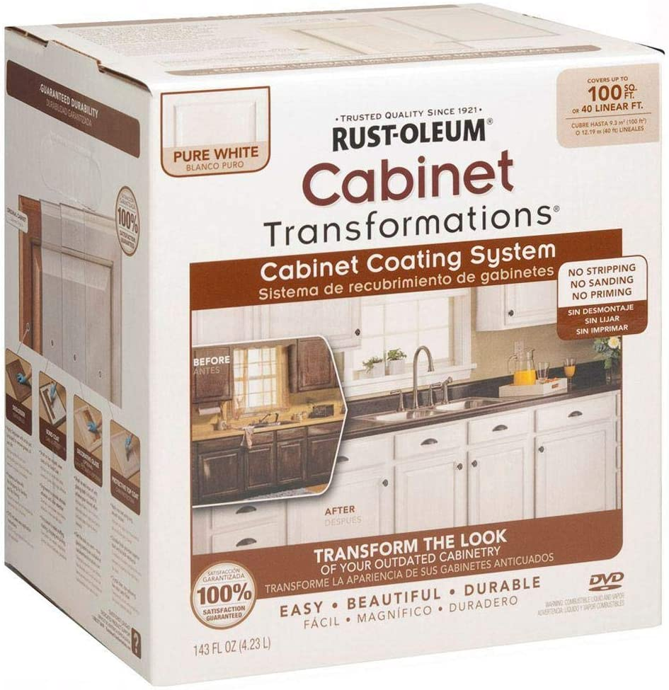 Rust-Oleum 298060 Transformations Cabinet Refinishing Kit, Pure White