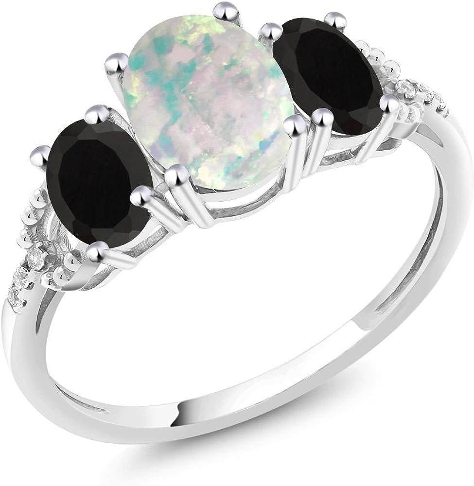 White Imitation Opal Silver Gemstone Jewelry Valentine/'s Day Ring Size 5-10