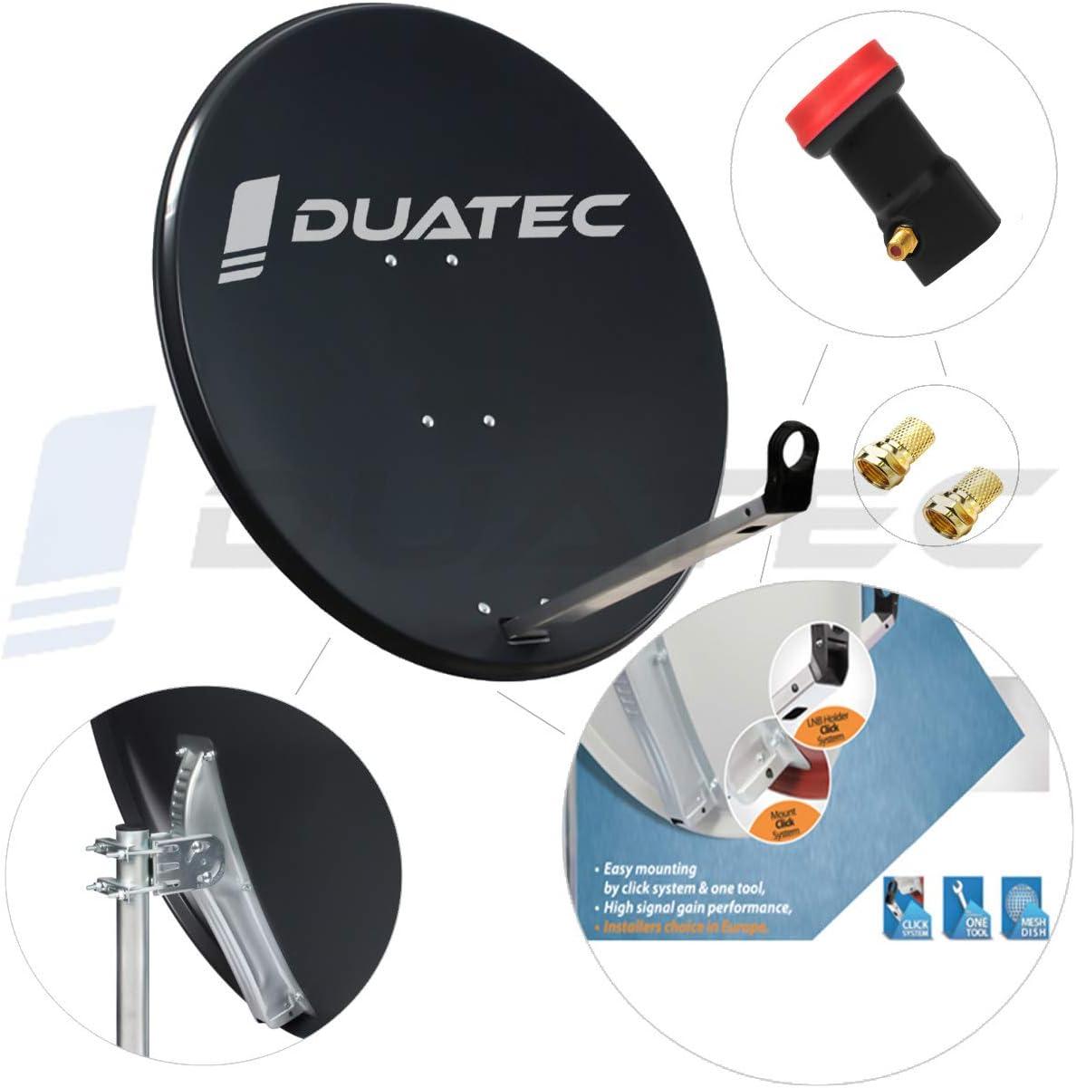 Duatec - Antena parabólica de 120 cm para Antena LNB ...