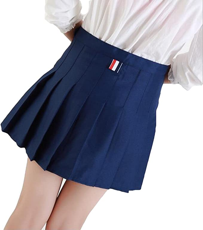 Kunfang Cintura Alta Lolita Faldas Plisadas Niñas Una línea Mini ...