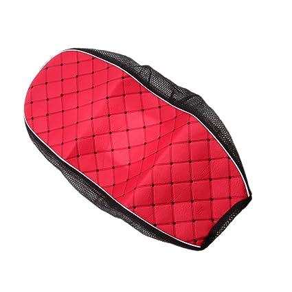 Shiwaki Cubierta Transpirable Del Protector Del Amortiguador Del Asiento De La Vespa Del Coche El/éctrico De La Motocicleta Roja Rojo L